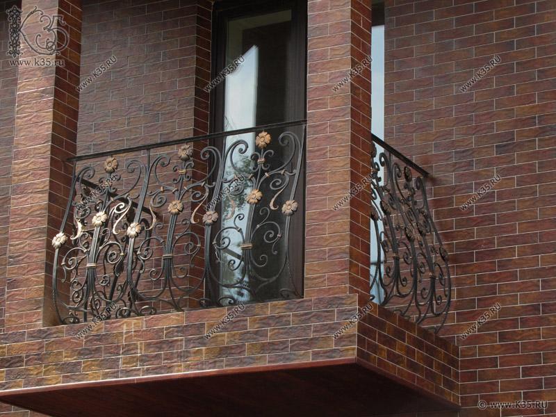 K35.ru: ковка : кованые балконные ограждения решетки металли.